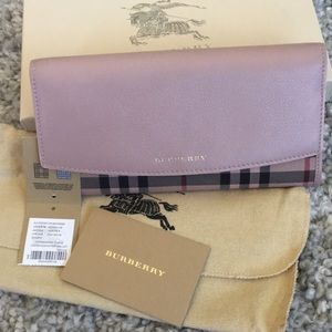 Burberry Horseferry Check Overdyed Leather Wallet